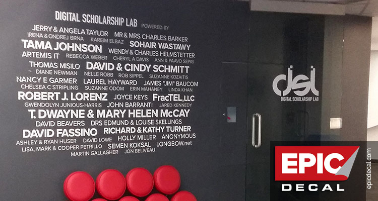 Donor Wall for FIT's Digital Scholarship Lab