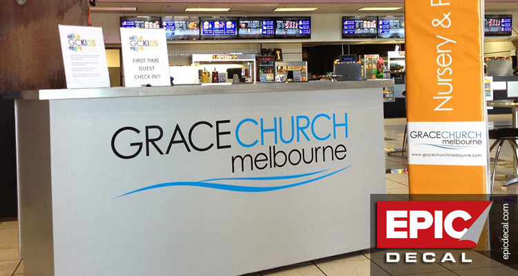 Grace Church Melbourne's rolling kiosk