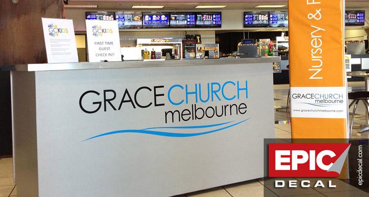 Grace Church Melbourne's rolling kiosk
