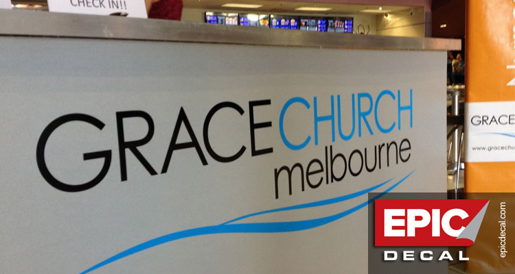 Logo decal for Grace Church Melbourne