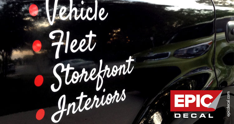 We do vehicles and fleet, storefront and interiors